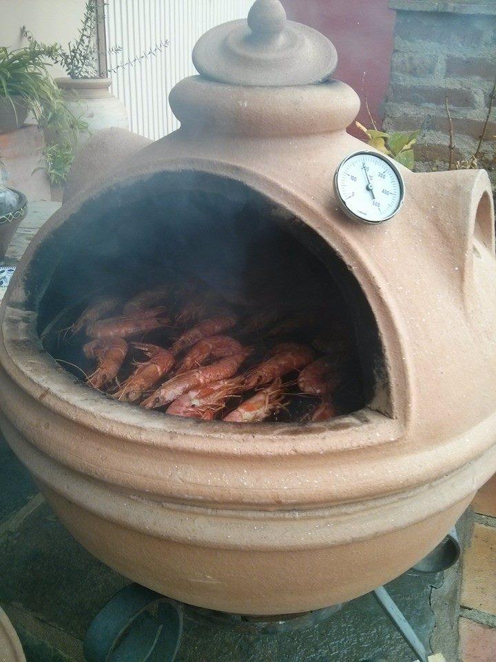 Horno barbacoa kamado hornos fornax - Barbacoa para terraza ...